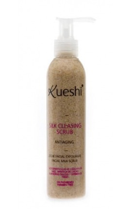 LECHE FACIAL EXFOLIANTE ANTIEDAD SILK CLEASING SCRUB ANTIAGING KUESHI
