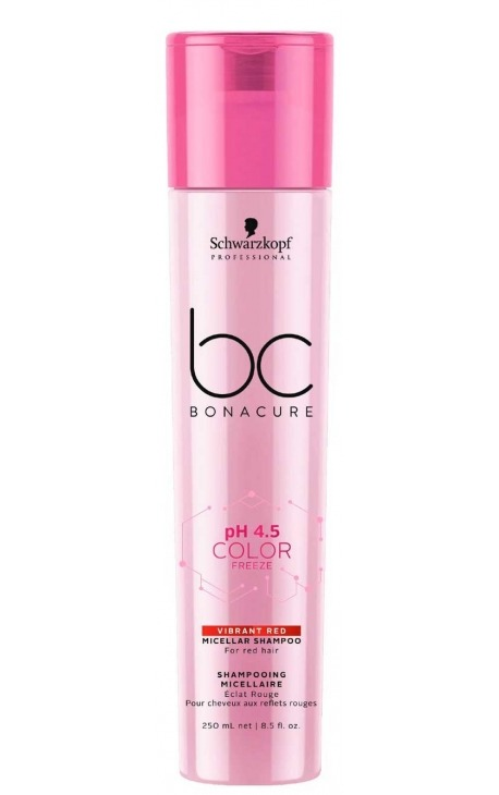 BC BONACURE PH 4,5 COLOR FREEZE CHAMPÚ VIBRANT RED SCHWARZKOPF PROFESSIONAL