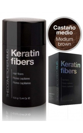 FIBRAS CAPILARES KERATIN CASTAÑO MEDIO THE COSMETIC REPUBLIC