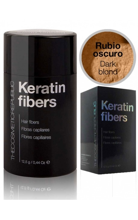 Fibras capilares Keratin rubio oscuro The Cosmetic Republic