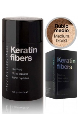 Fibras capilares Keratin rubio medio The Cosmetic Republic